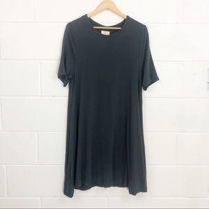 Lou & Grey Charcoal Gray Tee Shirt Dress